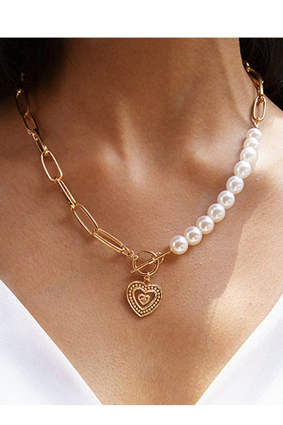 Make It Golden Heart Necklace