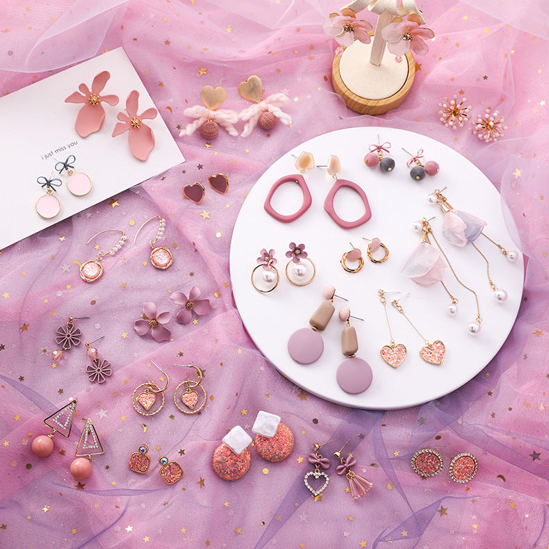 Lovely Pink Earings - UnikWe Boutique