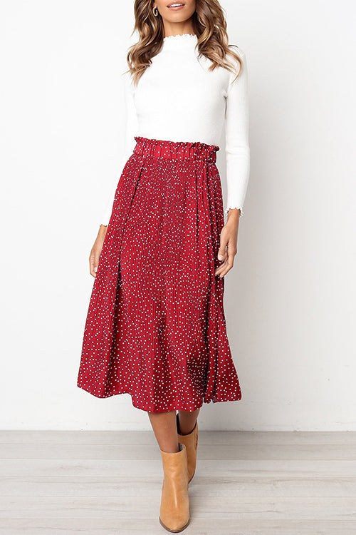 f7668219d0 Love Forever Pleated Pocketed Midi Skirt - UnikWe Boutique
