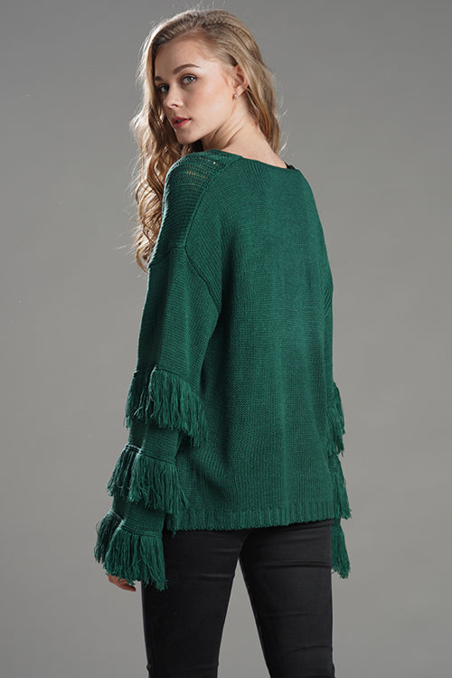 Lucky Tassels  Loose Sweater