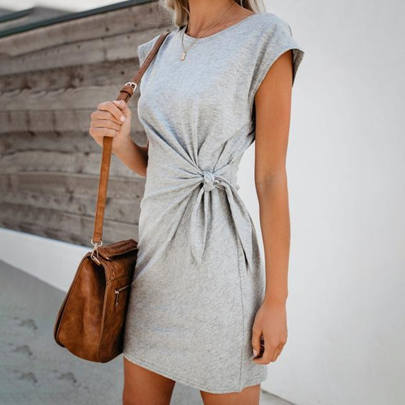 For Life Knot Mini Dress - UnikWe Boutique