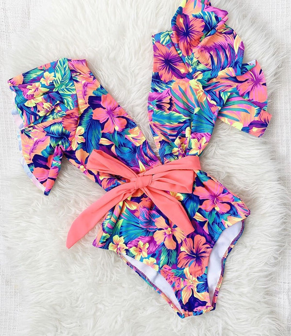 Sunshine Ahead Sexy Ruffle Swimsuit