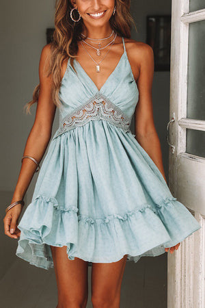Summer Time Lace Mini Dress