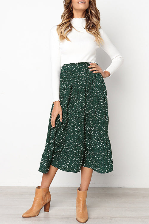 Love Forever Pleated Pocketed Midi Skirt