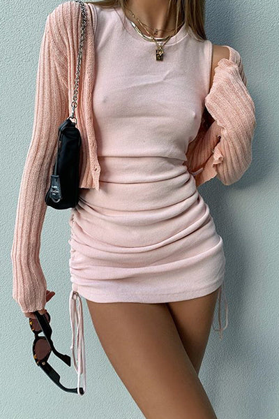 Simple Sleeveless Body-con Mini Dress
