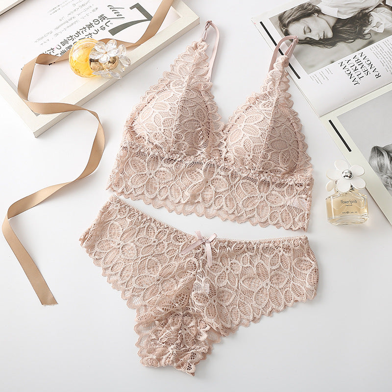 Floral Lace Underwear Bra Set - UnikWe Boutique