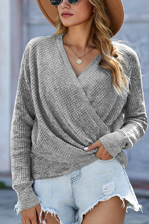 Cozy Days Cross Front Sweater