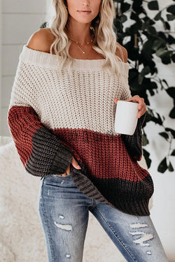 Fancy Season Off der Schulter Pullover