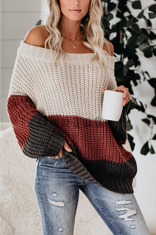 Fancy Season Off the Shoulder Sweater - UnikWe Boutique