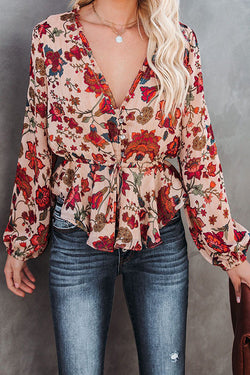 Love is Life Floral Print Top