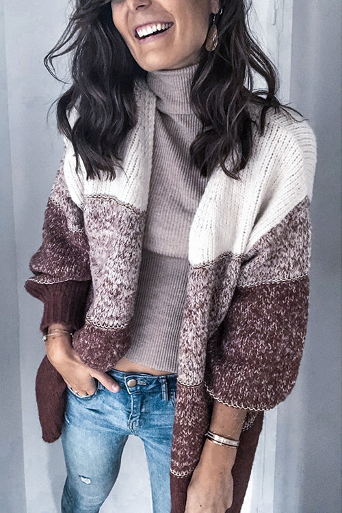 Clothing Morning Stripe Sweater Cardigan