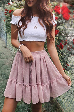Lovely Sweetie Pink Mini Skirt