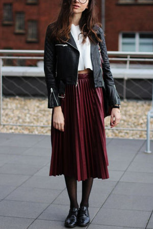 Take You There Pleated Midi Skirt