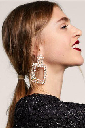 Stylish Crystal Earrings