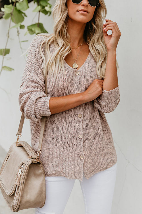 Knit Season Button Down Top