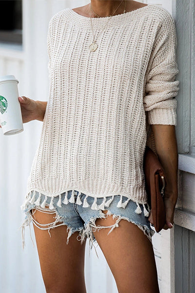Knit Season Tassel Sweater