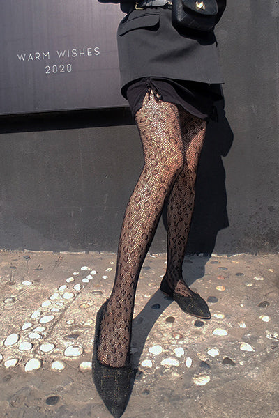 Stole My Heart Leopard Print Tights