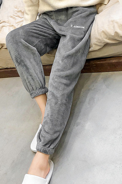 Love is Life Solid Cashmere Pants