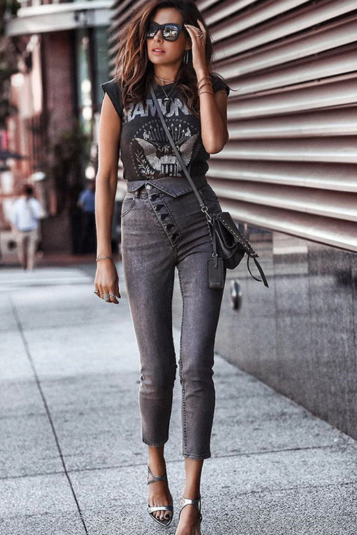 Taylor Black High-Waisted Skinny Jeans