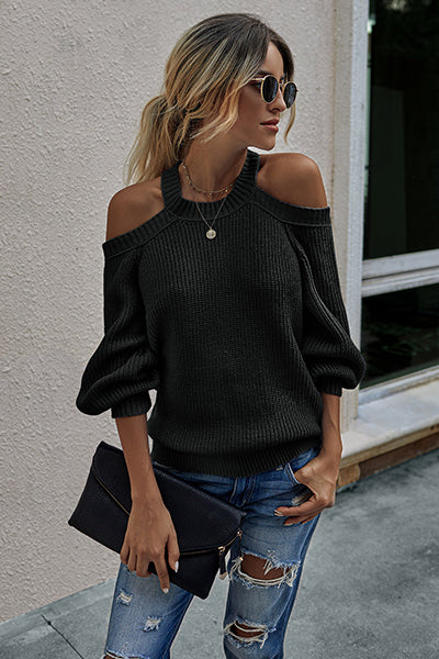 Best Yet Knit Halter Neck Sweater
