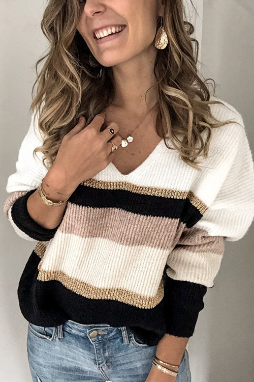 Embrace the Season Stripe Sweater