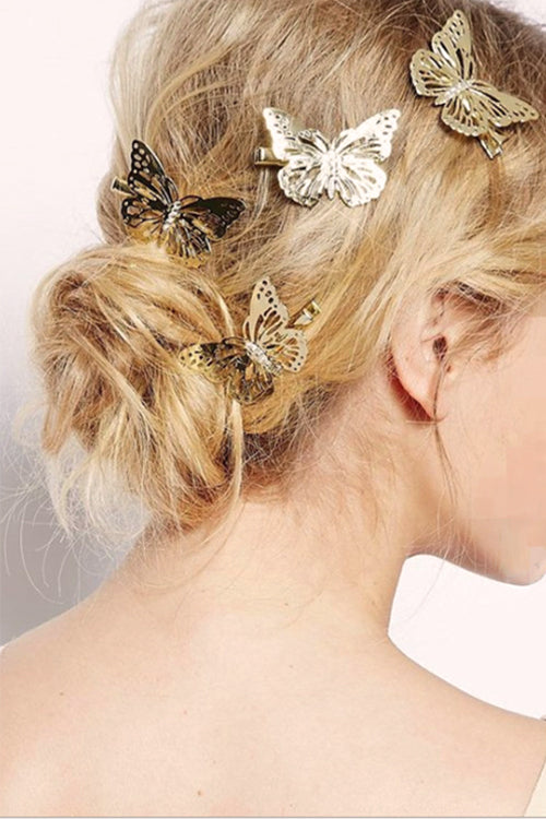 Gold Butterfly Hair Clip - UnikWe Boutique