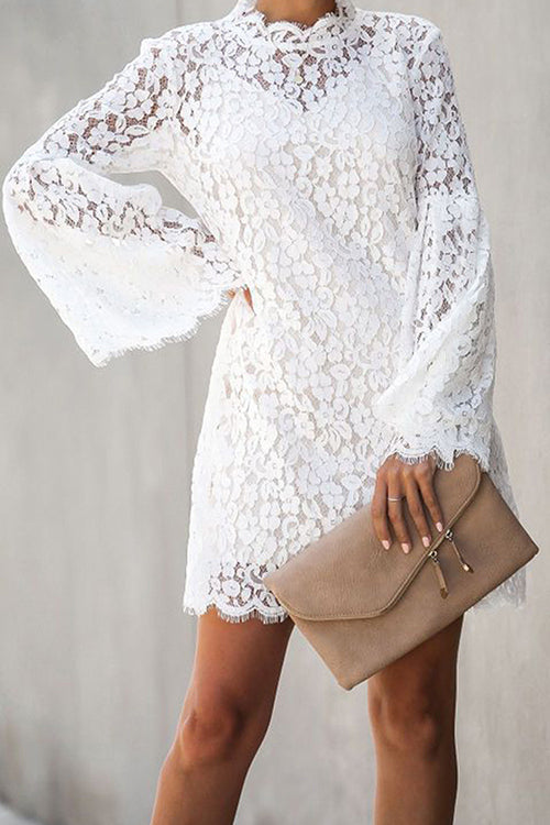 Favorite Flair Lace Bell Sleeve Dress