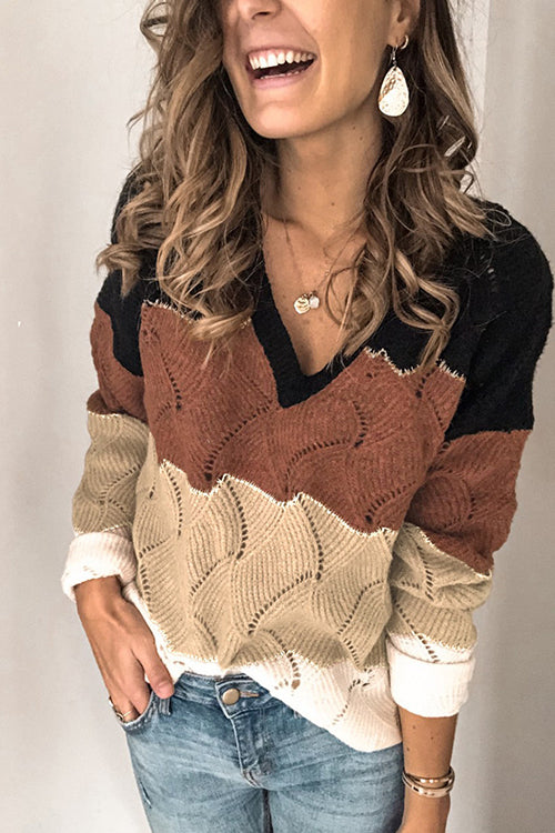 Cozy Retreat V-neck Sweater