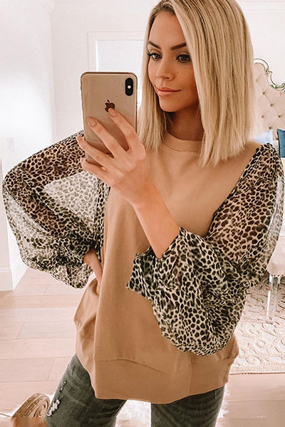 Wild But Sweet Leopard Top