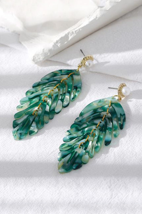 Boho Vibes Green Leaves Earrings - UnikWe Boutique