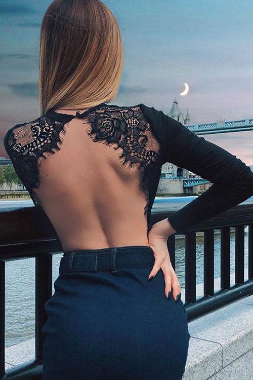 Lacy Lady Backless Bodysuit