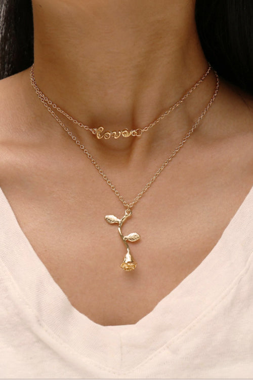 Love the Rose Layered Necklace