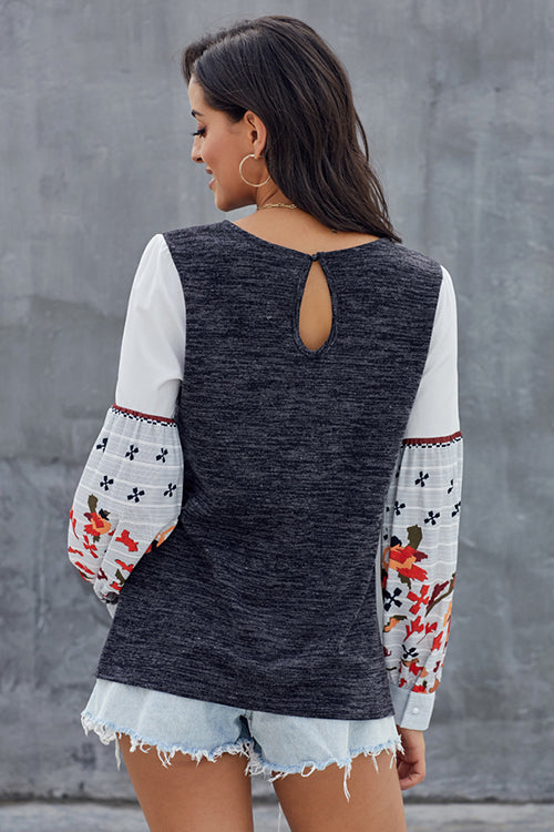Sweet Style Emnroidery Top