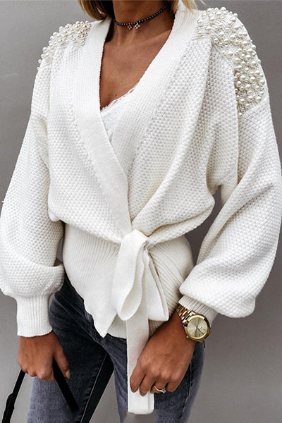 Treat Yourself Pearl Wrapped Sweater
