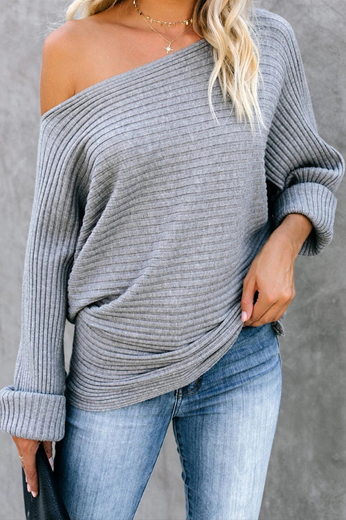 Best Yet Knit Batwing Sleeve Sweater