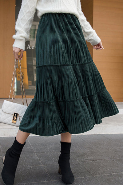 Love to Spell Pleated Midi Skirt
