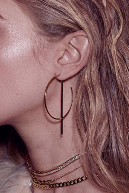 Alter Ago Metallic Circle Earrings