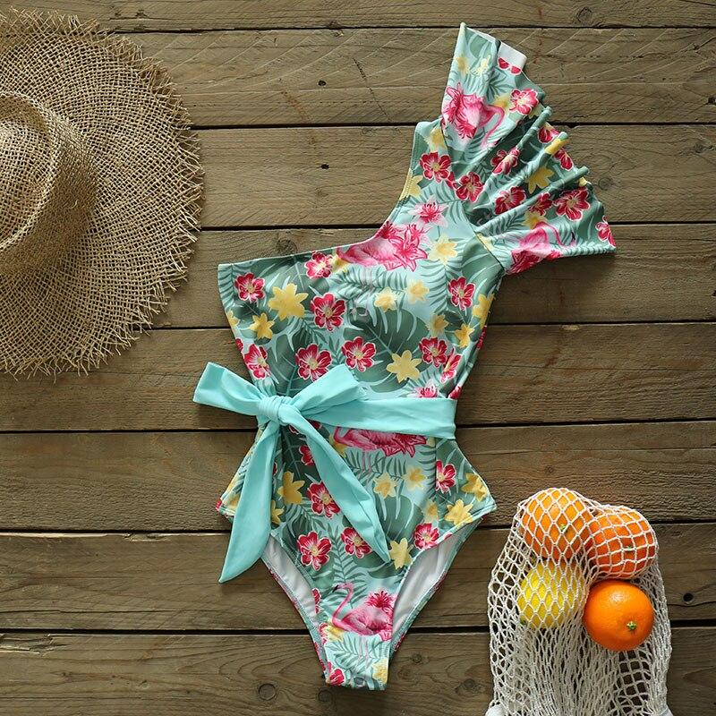 Ruffle Vibes Print Swimsuit