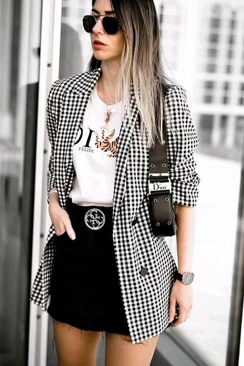 No Doubts Turn Down Collar Blazer