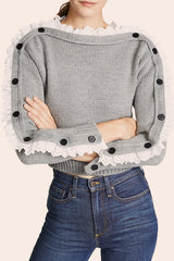 Way to Unik Off the Shoulder Sweater