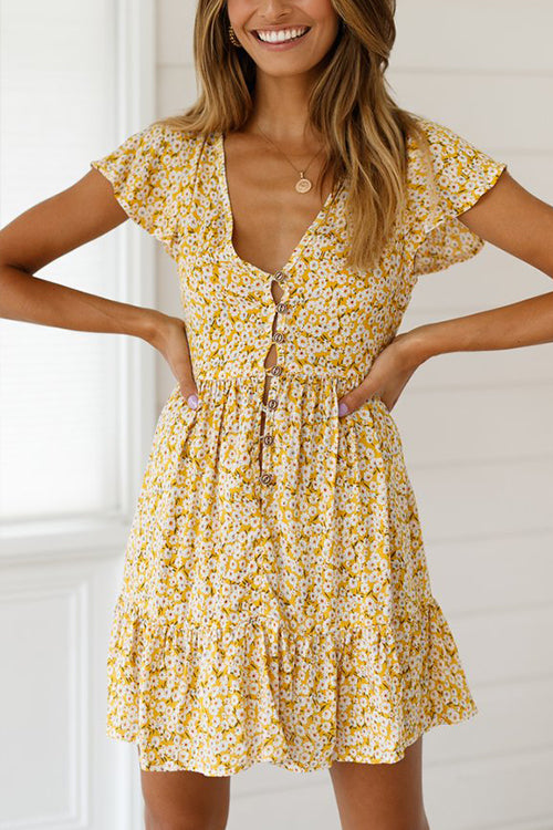 Picture Perfect Floral Print Mini Dress