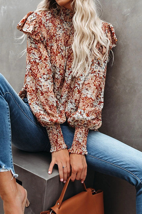 Yummy Floral Pleated Top