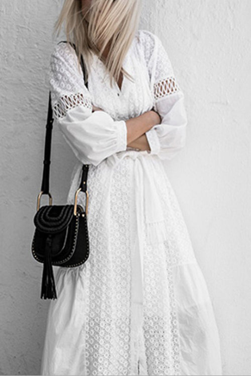 Heartfelt White Midi Dress