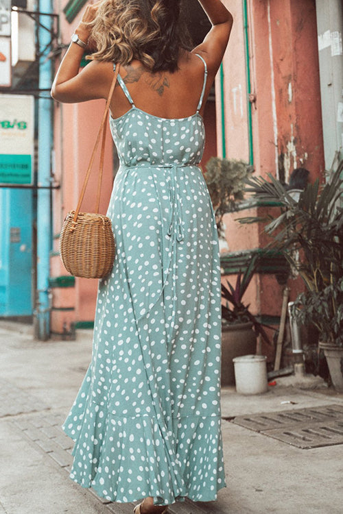 Meet Me in Hong Kong Doted Maxi Dress