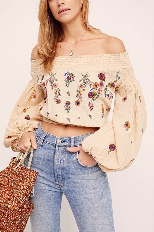 Picnic Pick Puff Sleeve Blouse