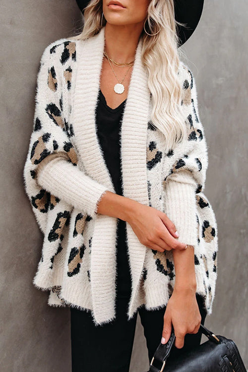 Free Spirited Leopard Print Sweater Cardigan