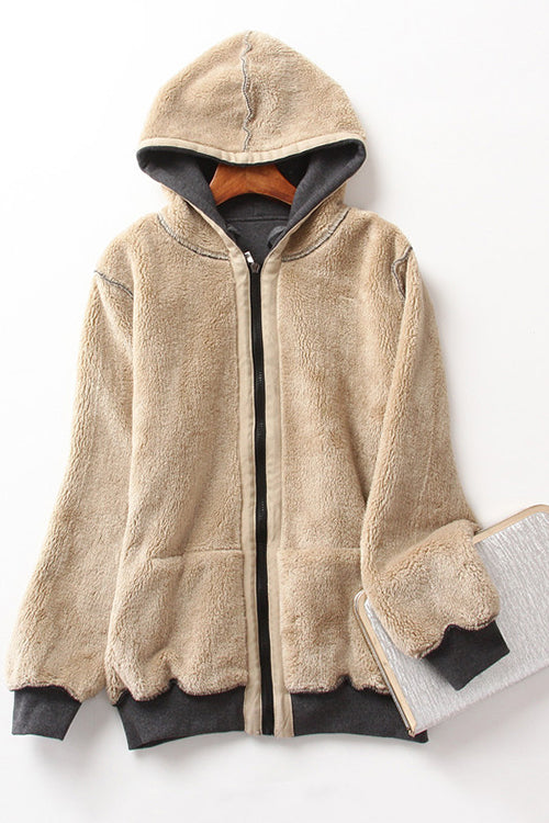 Love is Life Cashmere Hooded Jacket
