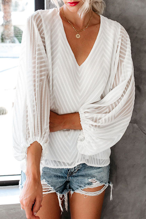 You Got Me Feel Puff Sleeve Stripe Top