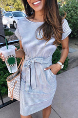 Totally Adored Stripe Pocketed Dress - UnikWe Boutique