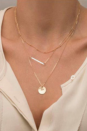 Triple-layered Pendant Necklace
